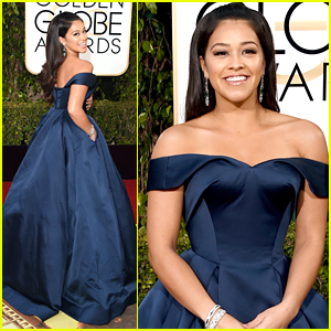Gina Rodriguez Wows In Gorgeous Gown at Golden Globes 2016
