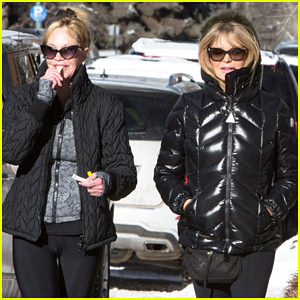 Goldie Hawn & Melanie Griffith Buddy Up In Aspen!