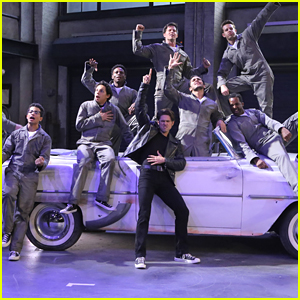 Aaron Tveit & Carlos PenaVega Get Ready To Race In 'Grease: Live' BTS Pics