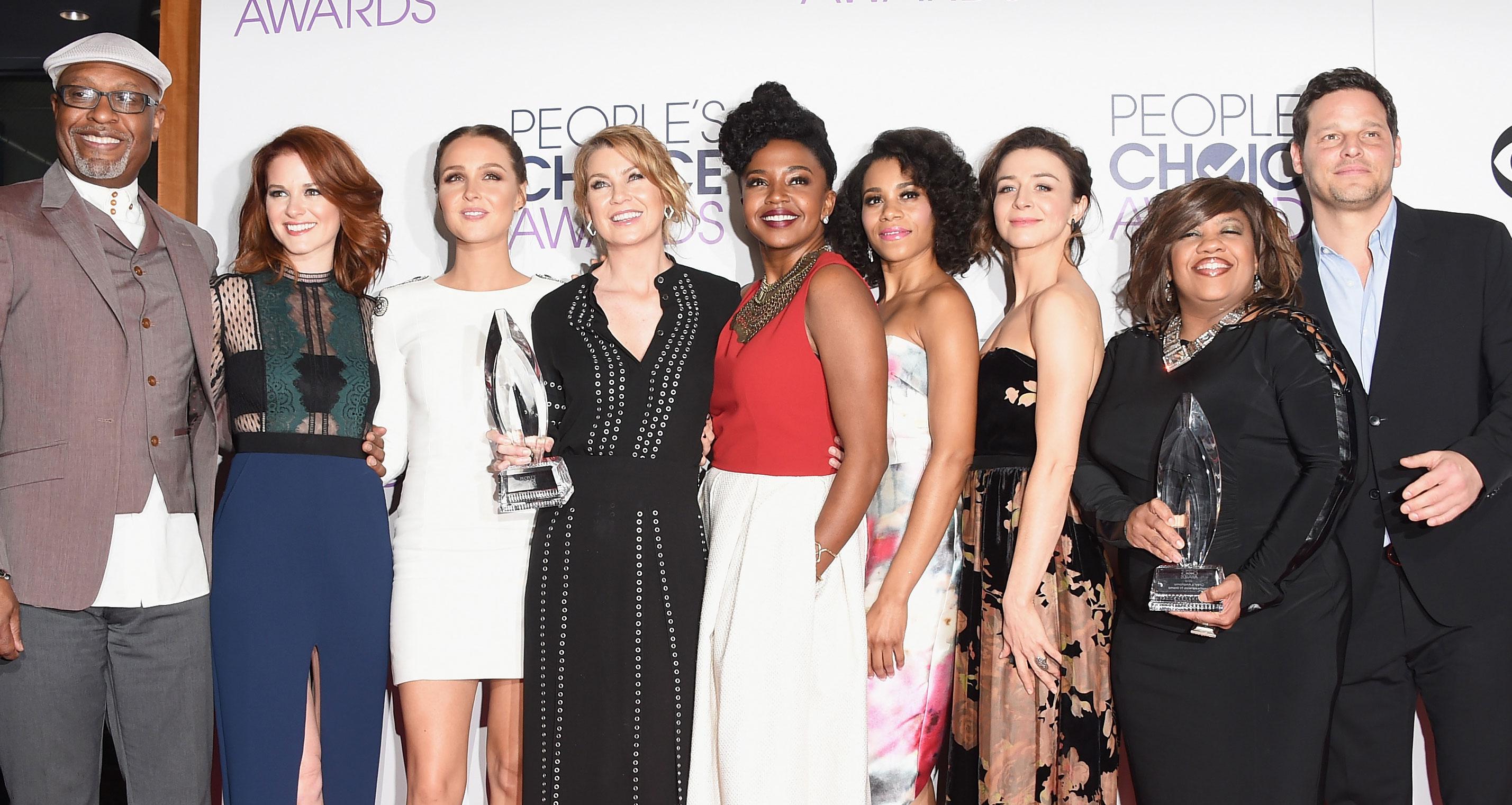 Ellen Pompeo Amp Grey S Anatomy Cast Win Favorite Network