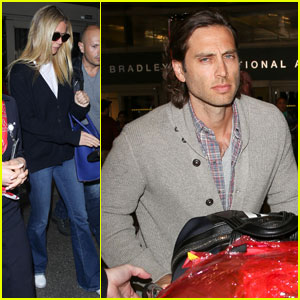 Gwyneth Paltrow & Boyfriend Brad Falchuk Return From Paris