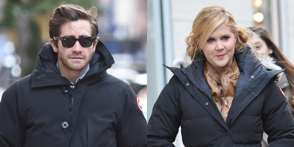 Jake Gyllenhaal Seen On Set Of Inside Amy Schumer Just Jared