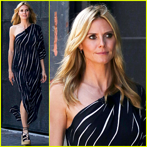 Heidi Klum Gets Glammed Up to Film Germany's Next Top Model
