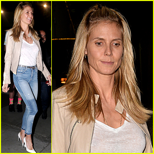 Heidi Klum Enjoys A Fun Night Out with Her Beau Vito Schnabel
