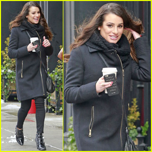 Lea Michele Cuddles Up With Her Longtime BFF Jonathan Groff