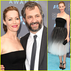 Judd Apatow & Leslie Mann Support 'Trainwreck' at Critics' Choice Awards 2016