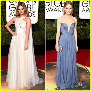 Lily James & Joanne Froggatt Are 'Downton' Darlings at Golden Globes 2016