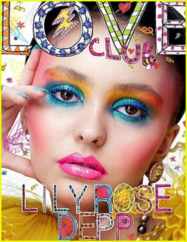 Lily-Rose Depp Gets Colorful for Her 'Love Magazine' Cover