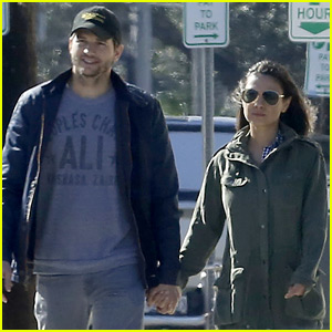 Ashton Kutcher & Mila Kunis Hold Hands in New Orleans