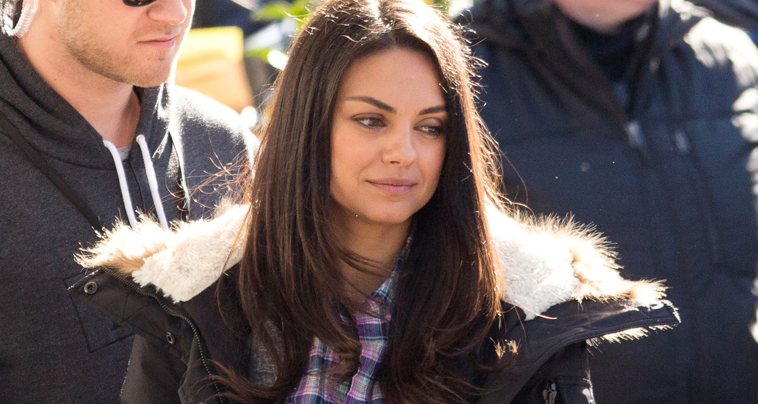 mila kunis begins filming bad moms in new orleans mila kunis just jared. Black Bedroom Furniture Sets. Home Design Ideas