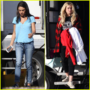Mila Kunis Films With Kesha for 'Bad Moms' in New Orleans