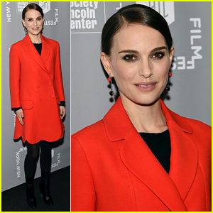 Natalie Portman Stuns in Red at the New York Jewish Film Festival