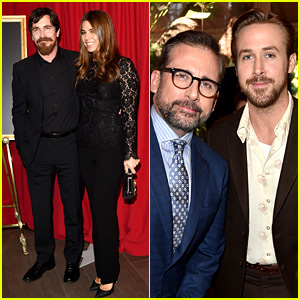 The Big Short's Ryan Gosling & Christian Bale Support Their Movie at AFI Awards 2016