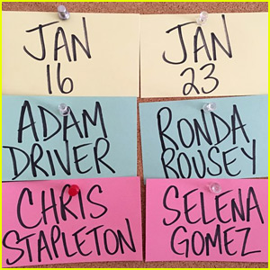 'Saturday Night Live' January Guests Include Selena Gomez & Ronda Rousey!