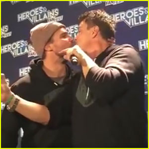 Stephen Amell Kisses John Barrowman On Lips, Fans Go Crazy