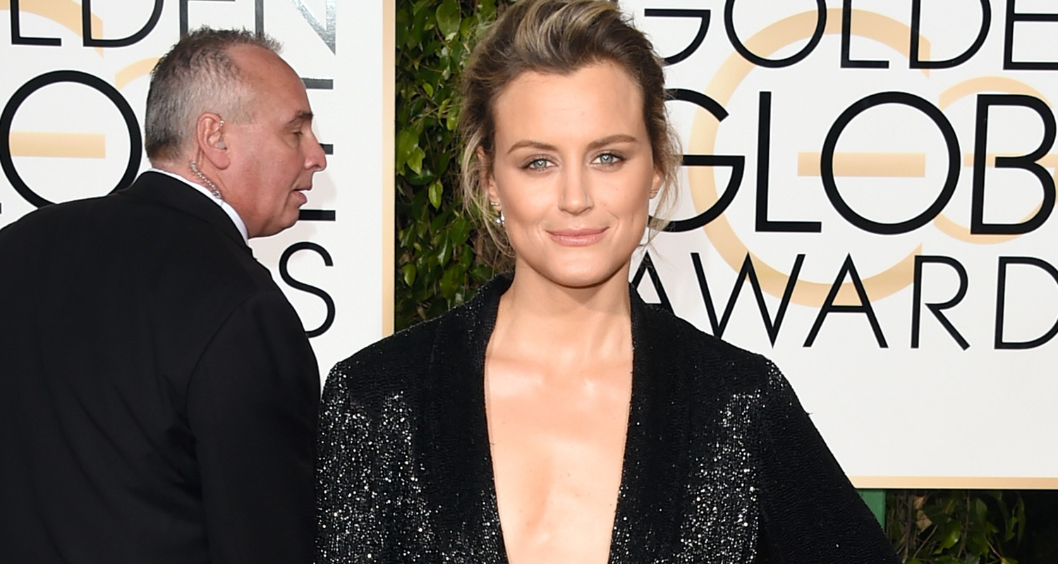 Taylor Schilling Suits Up At Golden Globes 2016! | 2016 ...Taylor Schilling Golden Globes 2016