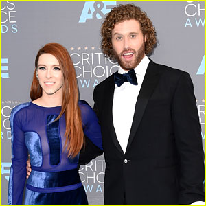 Host T.J. Miller Brings Wife Kate Gorney to Critics' Choice Awards 2016!
