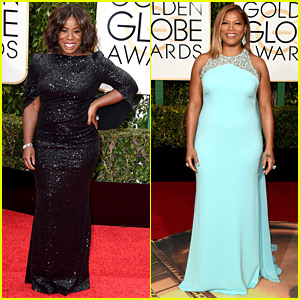 Uzo Aduba & Queen Latifah Hit Up Golden Globes 2016!