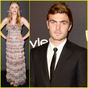 Maika Monroe & Alex Roe Party It Up After Golden Globes 2016