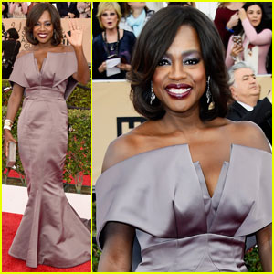 Viola Davis is a Lavender Beauty at SAG Awards 2016