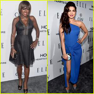 Viola Davis & Priyanka Chopra Stun at Elle's Women in Television Dinner