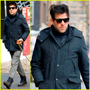 Zachary Quinto Takes His Canine Friends for Leisurely Stroll