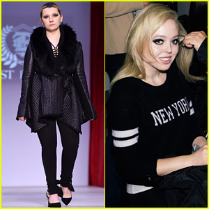 Abigail Breslin & Tiffany Trump Strut Their Stuff During NYFW