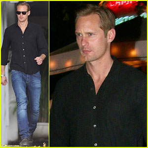 Alexander Skarsgard Spends Time at Chateau Marmont During Oscars Weekend
