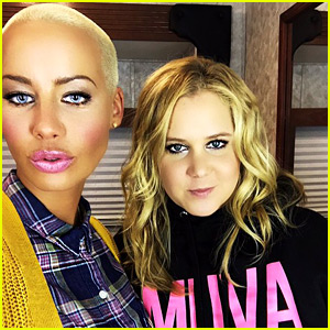 Amber Rose & Amy Schumer Snap Selfie After Filming 'Inside Amy Schumer' Cameo!