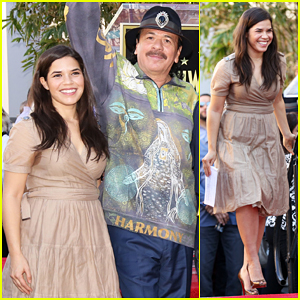 America Ferrera Honors Latino Rock Group Maná On Hollywood Walk of Fame!