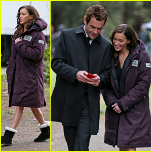 Katie Cassidy Films Cemetery Scene For 'Arrow'