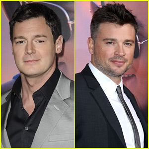 Benjamin Walker & Tom Welling Suit Up for 'The Choice' Premiere!