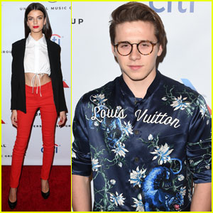 Brooklyn Beckham & Rumored Girlfriend Sonia Ben Ammar Party It Up After Grammys 2016