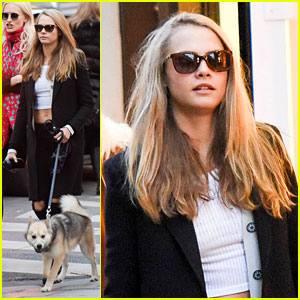 Cara Delevingne Brings Her Pup on a Shopping Trip to Saint Laurent