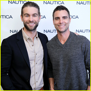 Chace Crawford & Colin Egglesfield Buddy Up At Nautica NYFWM Show!
