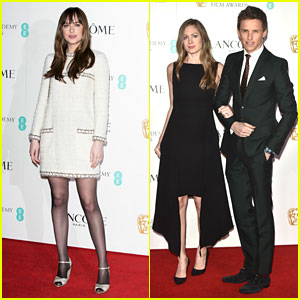 Dakota Johnson & Eddie Redmayne Celebrate BAFTA Nominations