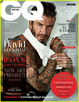 David Beckham Sports 5 Different Looks for 'British GQ' Covers