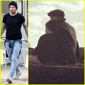 david beckham cuddles with son cruz in cute instagram photo david beckham just jared. Black Bedroom Furniture Sets. Home Design Ideas