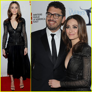 Emmy Rossum Supports Sam Esmail at Writers Guild Awards
