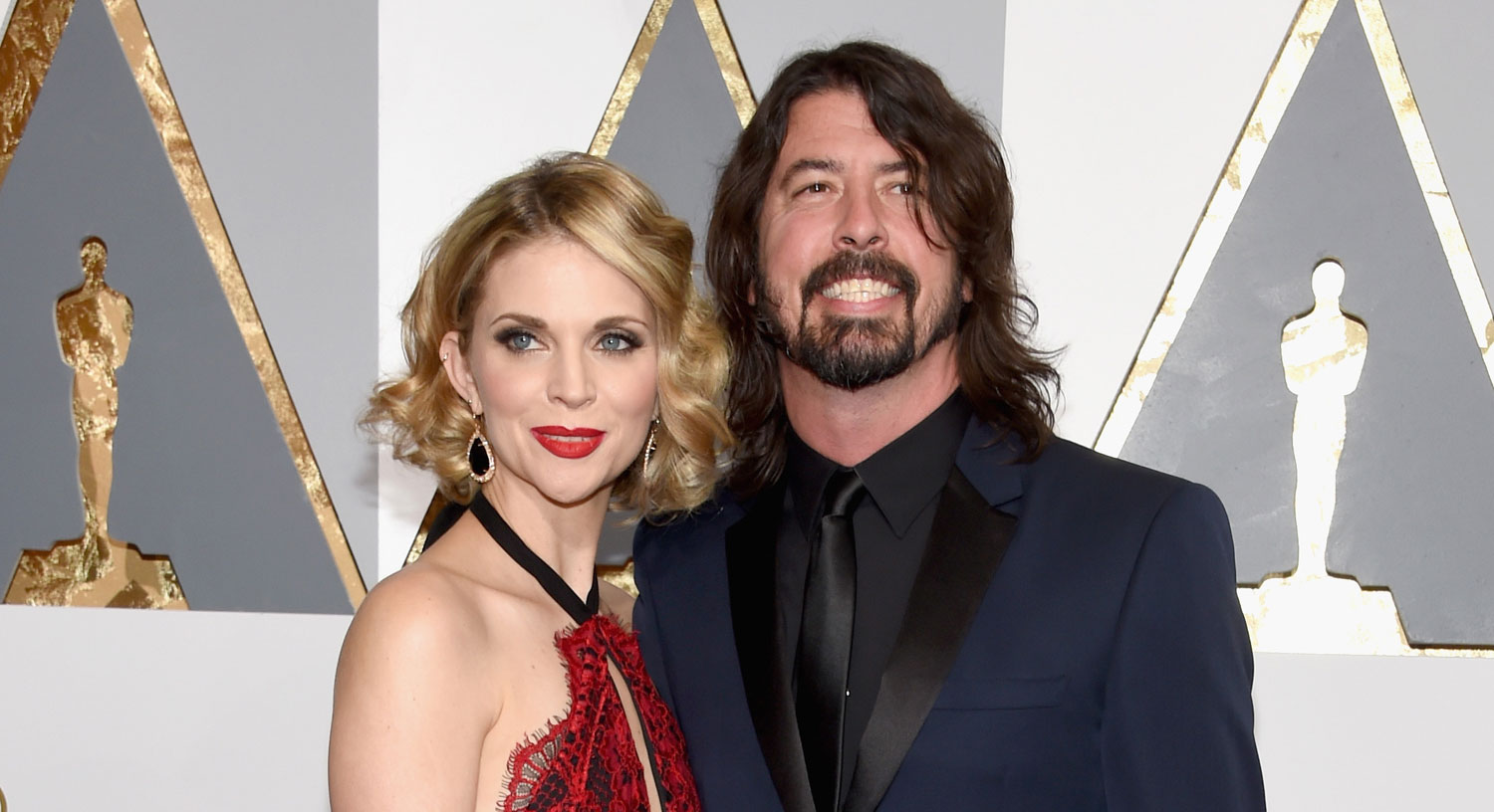 dave grohl attends oscars 2016 with wife jordyn blum