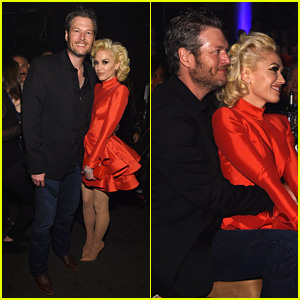 Gwen Stefani Sits in Blake Shelton's Lap at Clive Davis' Pre-Grammys 2016 Gala!
