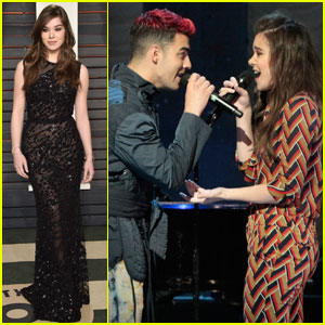 Hailee Steinfeld & DNCE Perform 'Rock Bottom' on 'Good Morning America' After Oscars 2016 Party