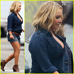 Hayden Panettiere Rocks Daisy Dukes on Set!