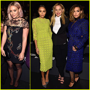 Hilary Duff & Naya Rivera Sit Front Row at Monique Lhuillier's NYFW Show