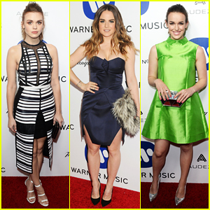 Holland Roden & JoJo Hit Up Warner Music Group's Grammy 2016 After Party!