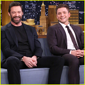 Hugh Jackman & Taron Egerton Play Catchphrase On 'The Tonight Show' - Watch Now!