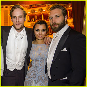 Jai Courtney Dresses Up for Vienna Ball with Samantha Barks