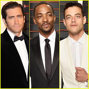 Jake Gyllenhaal, Anthony Mackie & Rami Malek Make Vanity Fair Oscar Party 2016 A Stud Fest!