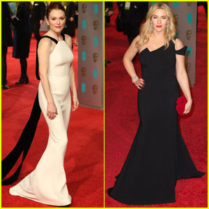 Julianne Moore & Kate Winslet Step Out for BAFTAs 2016