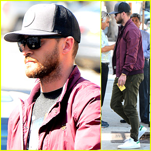 Justin Timberlake Visits Jessica Biel's Restaurant Au Fudge